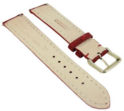 Herzog Dakota > Uhrenarmband rot > easy click > Leder gepolstert – Bild 2