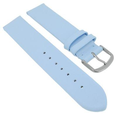 Herzog Beach II Uhrenarmband > mattes glattes Leder blau gleichlaufend – Bild 3