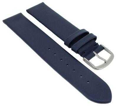 Herzog Beach II Uhrenarmband gleichlaufend > mattes glattes Leder blau – Bild 3