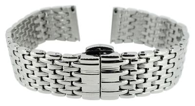 Herzog > Uhrenarmband 20mm > Edelstahl massiv silberfarben glänzend  – Bild 1