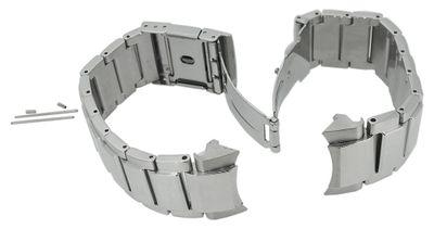 Casio Edifice Uhrenarmband Edelstahl silbern EQB-501 EQB-500 Umrustung – Bild 4