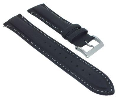 Casio Edifice Chrono Uhrenarmband 22mm Leder schwarz > EQB-501XBL-1AER – Bild 1