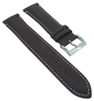 Casio Edifice Chrono Uhrenarmband 22mm braun Leder > EQB-501XBL-2AER – Bild 1