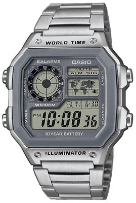 Casio Collection Digitaluhr Weltzeitfunktion AE-1200WHD-7AVEF     – Bild 1