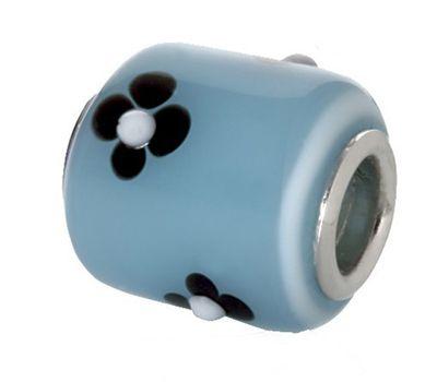 CEM Beads Glaskugel blau 925/-Silber CD723