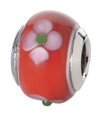 CEM Beads Glaskugel rot Glasbeads 925/-Silber CD727