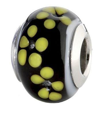 CEM Glasbeads Drops Beads Glaskugel 925/Silber CD741