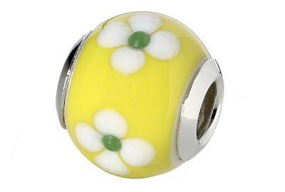 CEM Glasbeads Drops Beads Glaskugel 925/Silber CD750