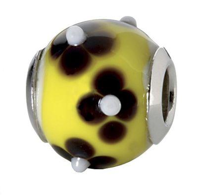 CEM Glasbeads Drops Beads Glaskugel 925/Silber CD765
