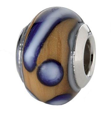 CEM Glasbeads Drops Beads Glaskugel 925/Silber CD766