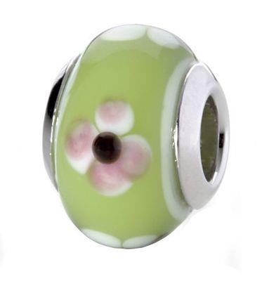 CEM Glasbeads Drops Beads Glaskugel 925/Silber CD777
