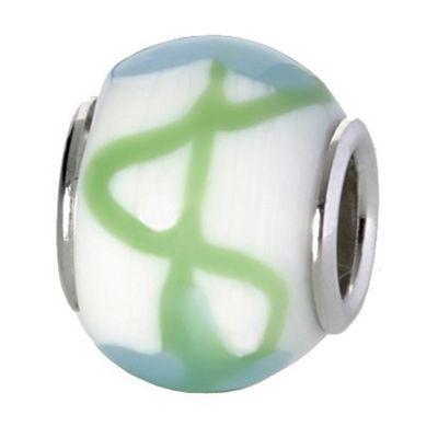 CEM Glasbeads Drops Beads Glaskugel 925/Silber CD781