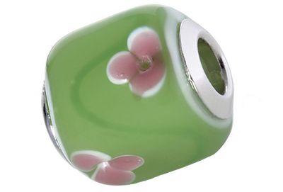 CEM Glasbeads Drops Beads Glaskugel 925/Silber CD782