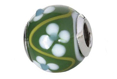 CEM Glasbeads Drops Beads Glaskugel 925/Silber CD796