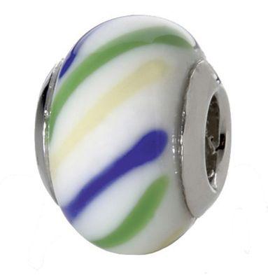 CEM Glasbeads Drops Beads Glaskugel 925/Silber CD819