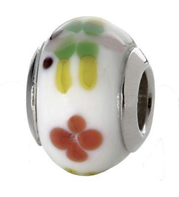 CEM Glasbeads Drops Beads Glaskugel 925/Silber CD820