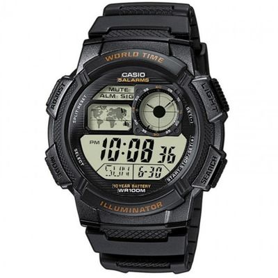 Casio Collection digital Herrenuhr schwarz AE-1000W-1AVEF