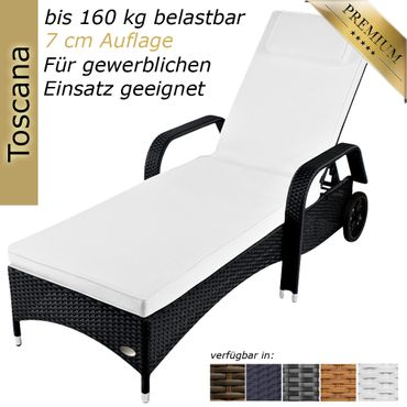 Sunlounger Toscana Anthracite