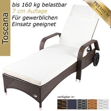 Sunlounger Toscana Java brown – Bild 1