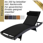 sunlounger Milano anthracite 001
