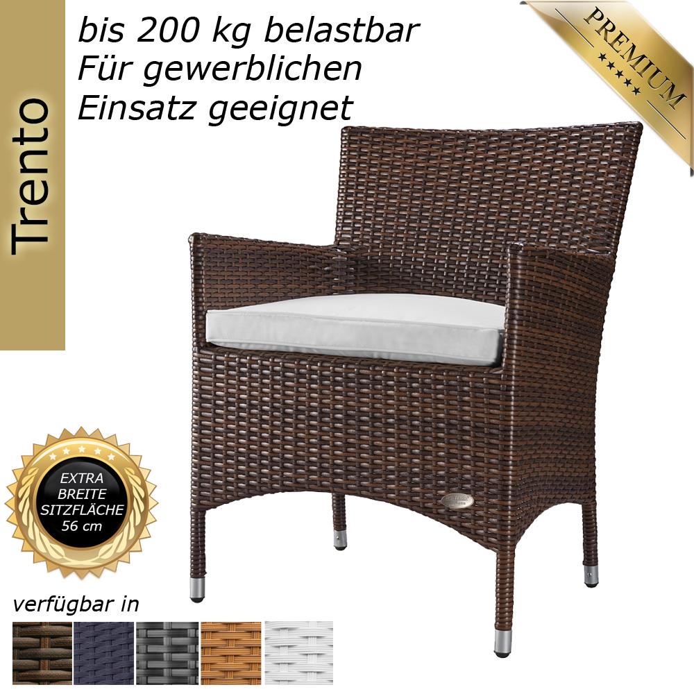 gartenstuhl stuhl sessel hochlehner rattanstuhl rattan polyrattan alu braun gartenm bel rattan. Black Bedroom Furniture Sets. Home Design Ideas