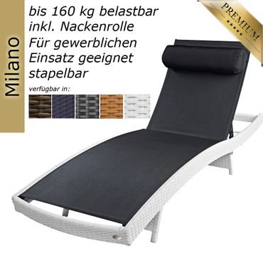 Sun lounger Milano Java brown