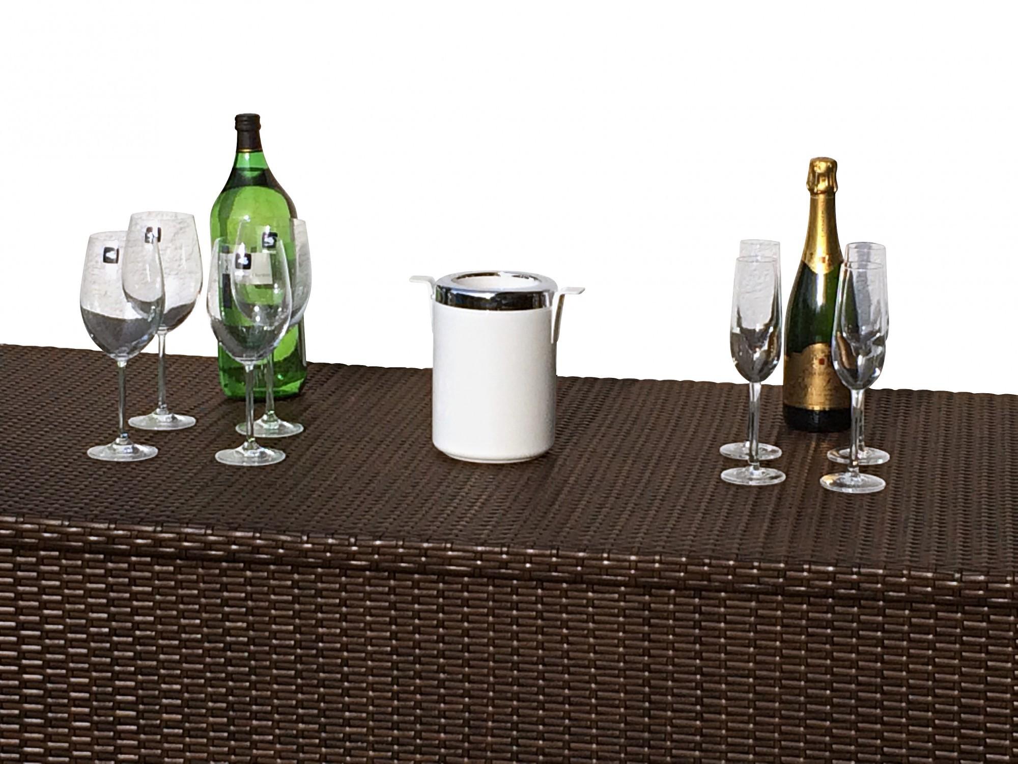 auflagenbox polyrattan braun wasserdicht sd81 hitoiro. Black Bedroom Furniture Sets. Home Design Ideas
