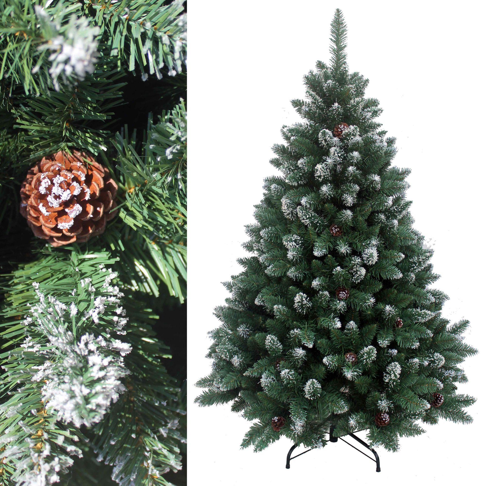 210 cm k nstlicher weihnachtsbaum christbaum tannenbaum deko mit schnee k nstliche. Black Bedroom Furniture Sets. Home Design Ideas