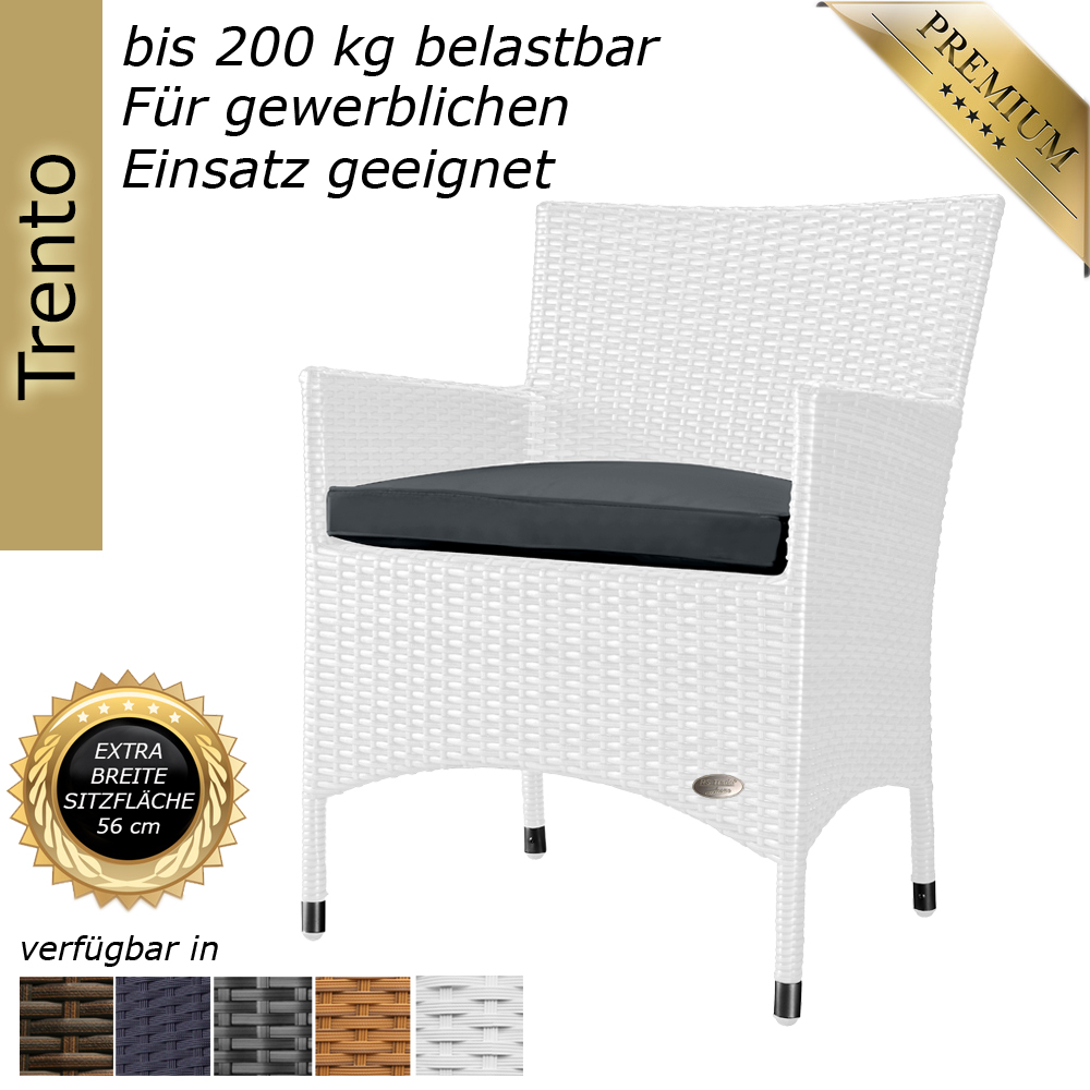 gartenstuhl stuhl sessel hochlehner rattanstuhl rattan polyrattan alu weiss gartenm bel rattan. Black Bedroom Furniture Sets. Home Design Ideas