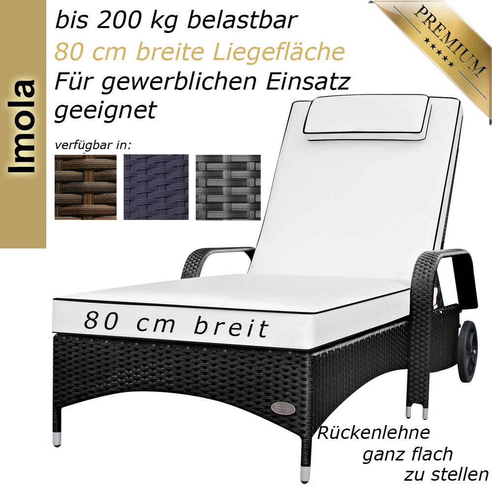 Gartenliege Rattan Schwarz Modell   Sonnenliege Gartenliege Liege Liegestuhl Rattanliege Polyrattan