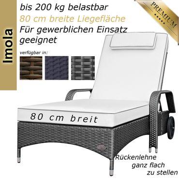 Sonnenliege Imola Grau-Silber