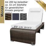 Sunlounger Monza brown  001