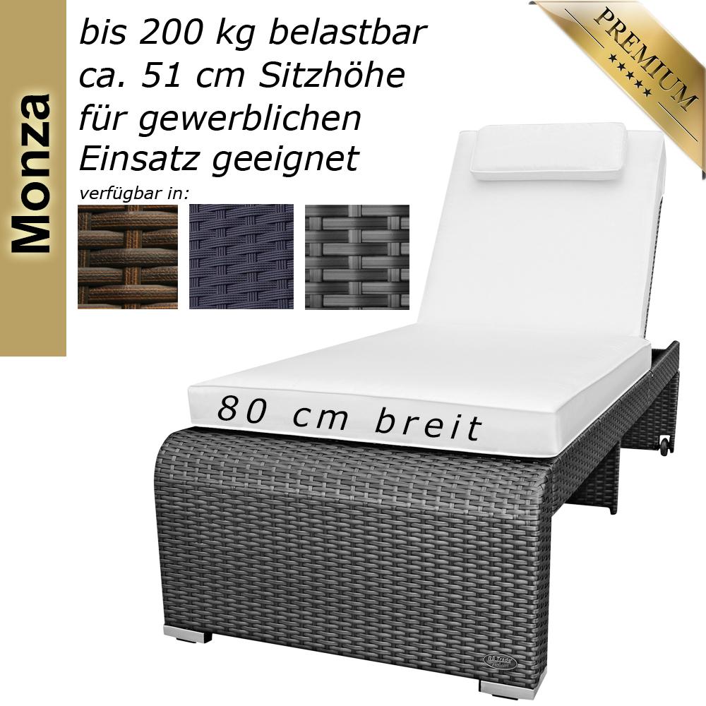 Sonnenliege Gartenliege Liege Liegestuhl Rattanliege Polyrattan ...