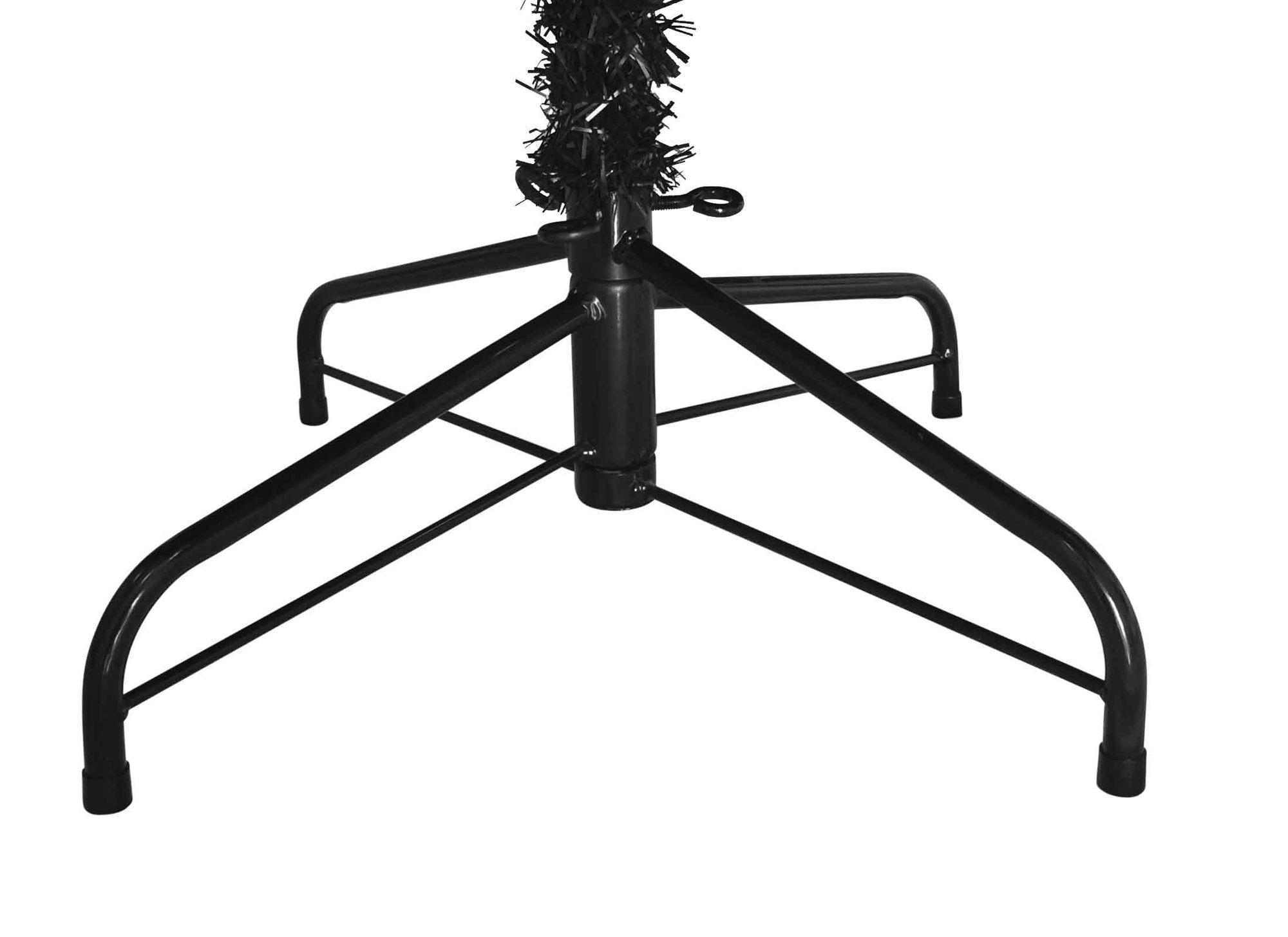 schwarzer 120 cm k nstlicher weihnachtsbaum christbaum tannenbaum metallst nder k nstliche. Black Bedroom Furniture Sets. Home Design Ideas