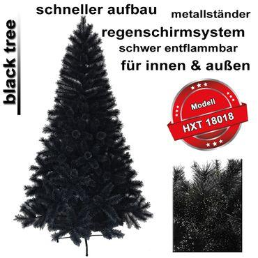 HXT 18018 Schwarz 240 cm künstlicher Weihnachtsbaum – Bild 1