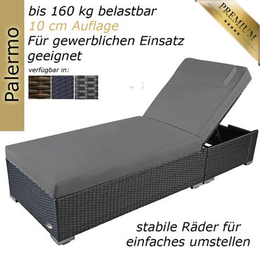 sunlounger Palermo silver