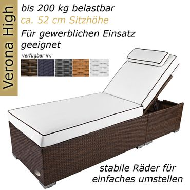 sunlounger Verona High brown