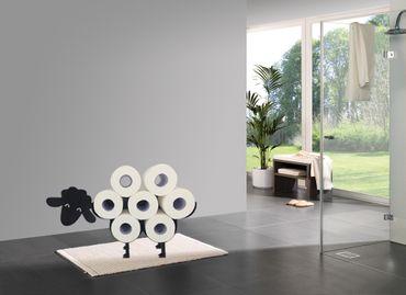 Toilettenpapierhalter Schaf Modell 3 (Schwarz)  – Bild 2