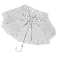Regenschirm Brautschirm weiß