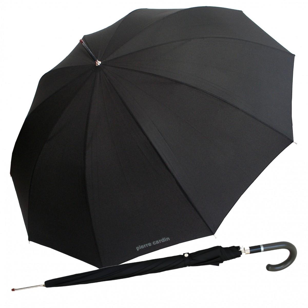 Stockschirm Regenschirm Herren schwarz Pierre Cardin