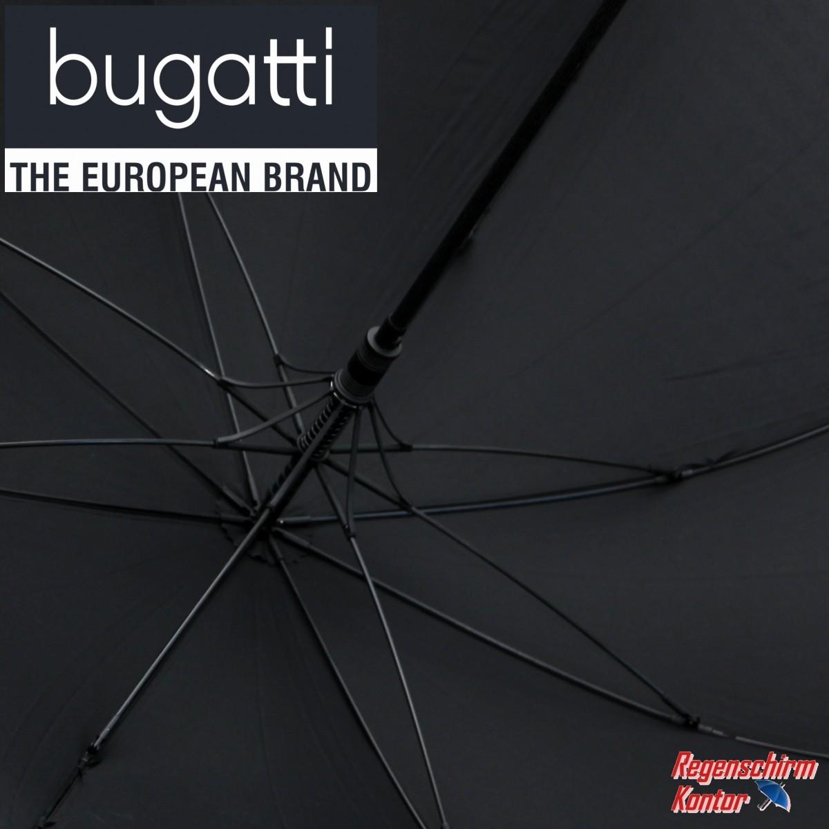Bugatti Stockschirm Herren Automatik schwarz
