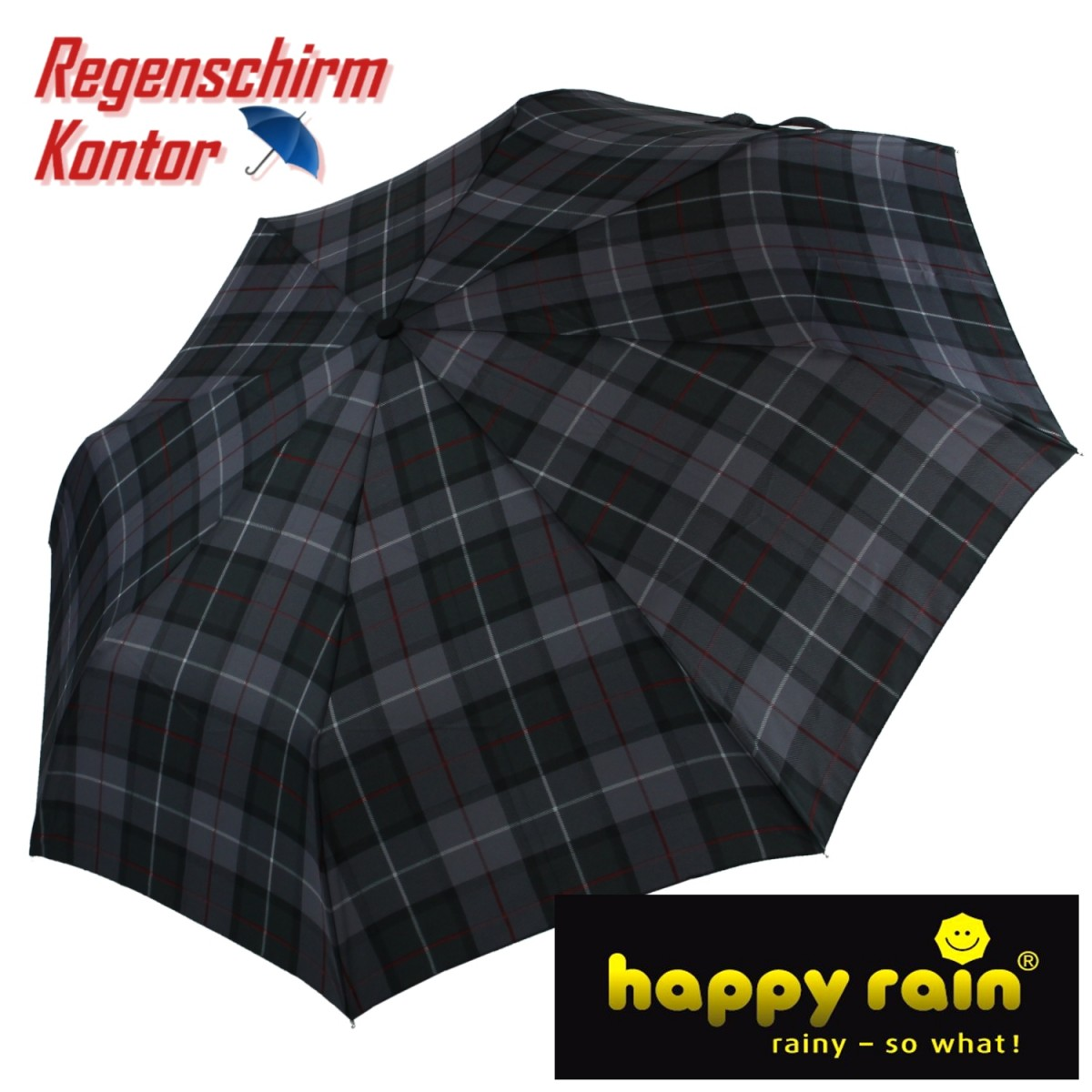 Taschenschirm Super Mini light Karo happy rain