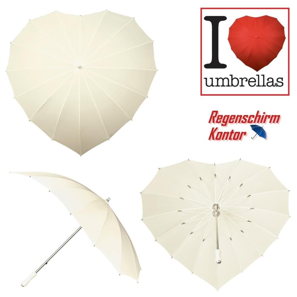 Regenschirm Stockschirm Herz