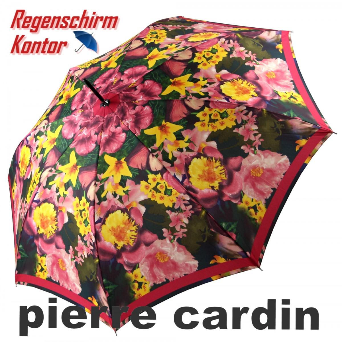 Pierre Cardin Stockschirm Automatik Damen Blumen