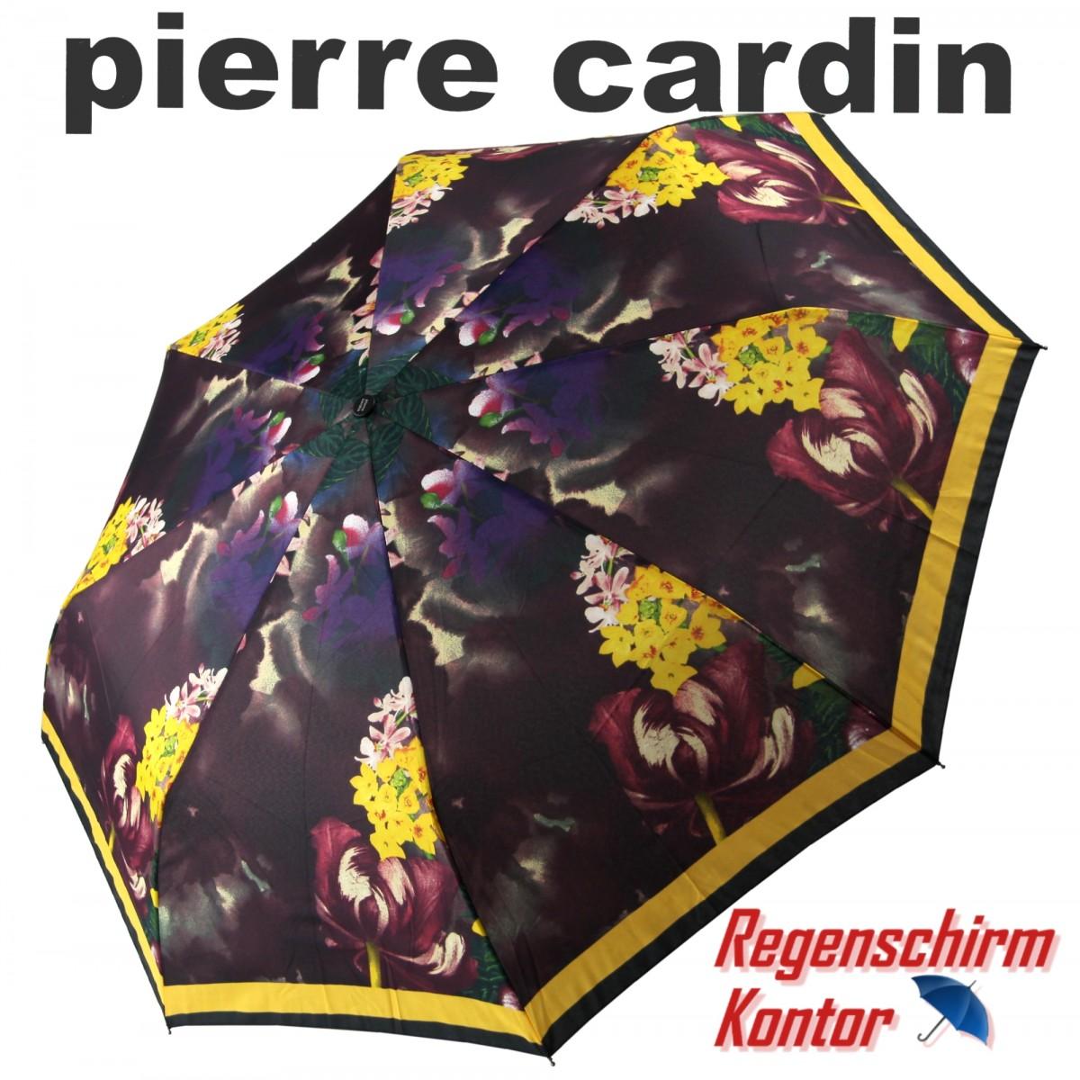 Pierre Cardin Taschenschirm Easymatic Damen Blumenmotiv
