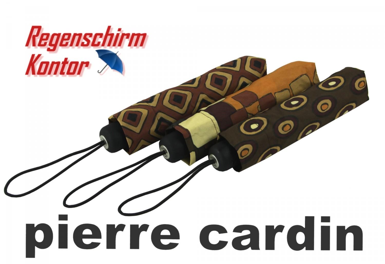 Regenschirm Taschenschirm Damen braun Pierre Cardin