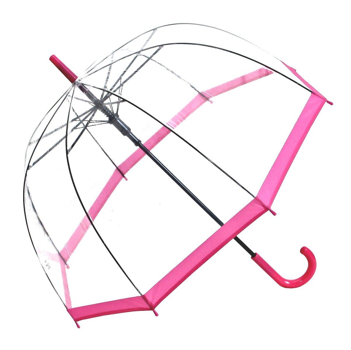 Regenschirm Transparent / Durchsichtig Glockenschirm Automatik
