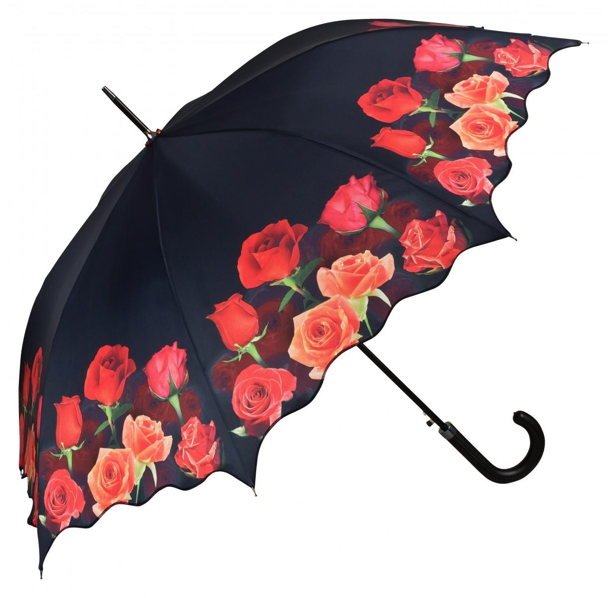 Regenschirm Stockschirm Rosenbouquet