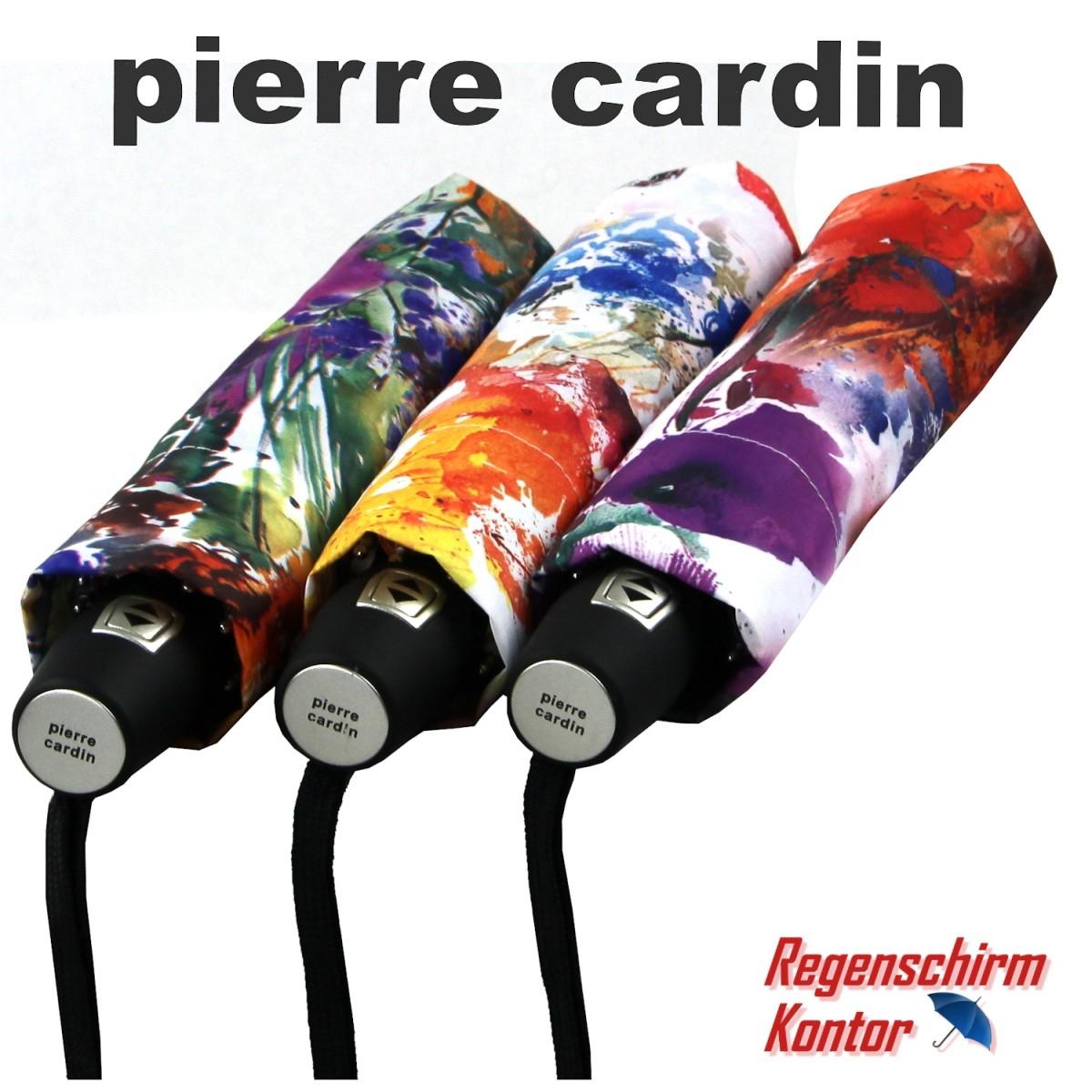 Pierre Cardin Taschenschirm Mini Damen Blumenmotiv