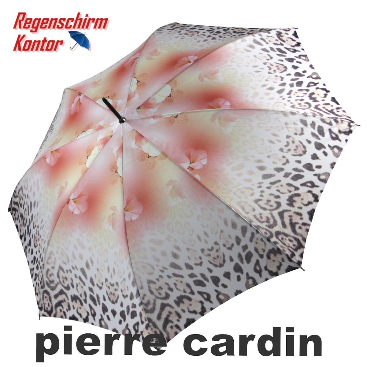 Regenschirm Stockschirm Blumen Pierre Cardin